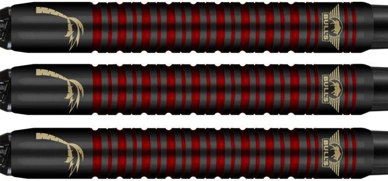 Bull's NL Šipky Kim Huybrechts - Black Titanium - 18g