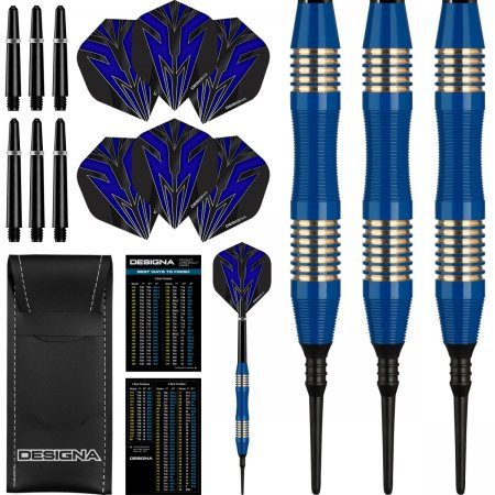 Designa Šipky Mako - Micro - Blue - 21g