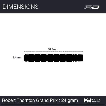 Red Dragon Šipky Steel Robert Thornton - Grand Prix SE - 24g