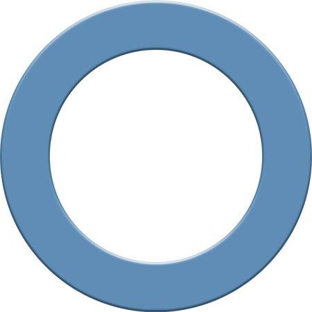 Designa Surround - kruh kolem terče - Sky Blue