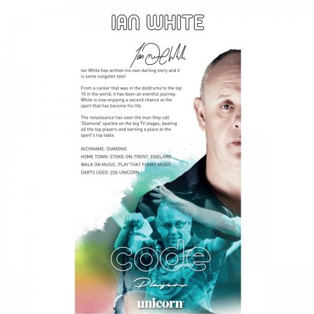 Unicorn Šipky Code DNA - Ian White - 18g