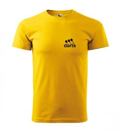 Malfini Triko s potiskem - Darts - yellow - XS