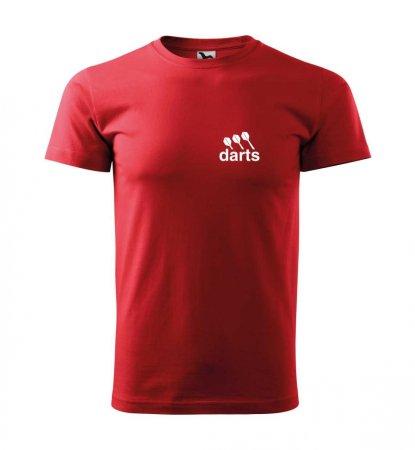 Malfini Triko s potiskem - Darts - red - XS