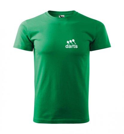 Malfini Triko s potiskem - Darts - green - XL
