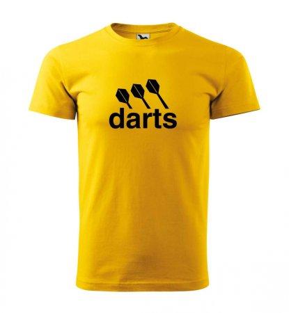 Malfini Triko s potiskem - Darts center - yellow - XL