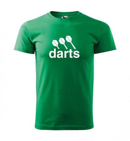 Malfini Triko s potiskem - Darts center - green - S