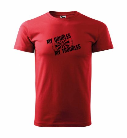 Malfini Triko s potiskem - Troubles - red - 3XL