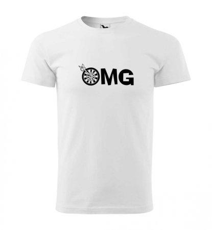 Malfini Triko s potiskem - OMG - white - 4XL