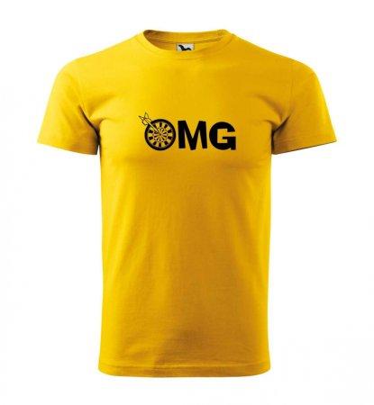 Malfini Triko s potiskem - OMG - yellow - 3XL