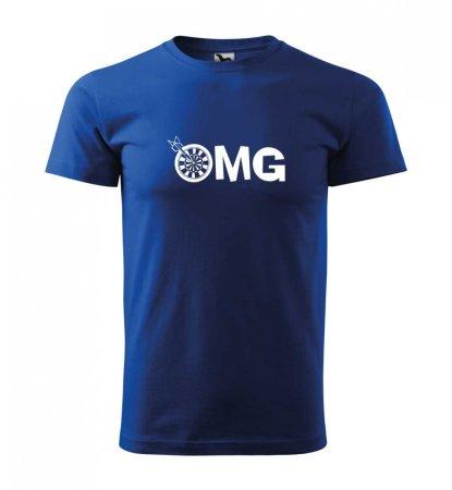 Malfini Triko s potiskem - OMG - blue - XXL
