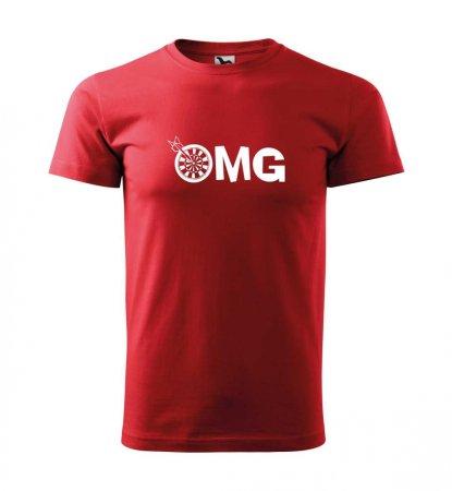 Malfini Triko s potiskem - OMG - red - XS