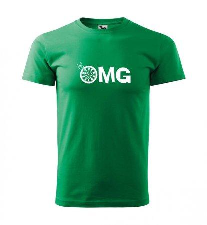 Malfini Triko s potiskem - OMG - green - XXL