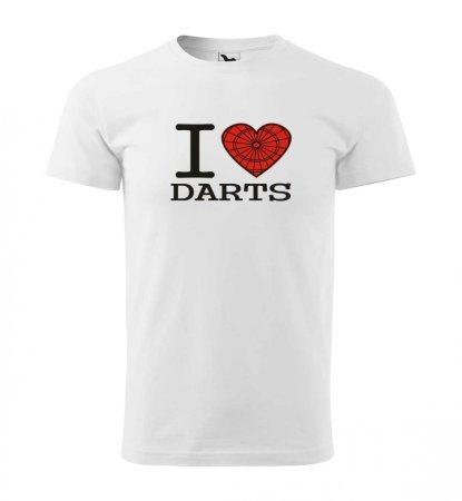 Malfini Triko s potiskem - I Love Darts - white - 3XL