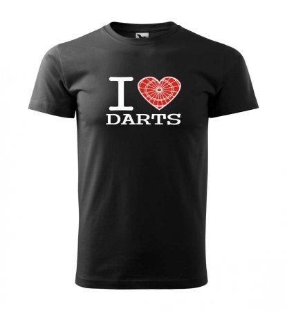 Malfini Triko s potiskem - I Love Darts - black - L