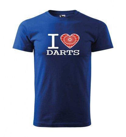Malfini Triko s potiskem - I Love Darts - blue - M