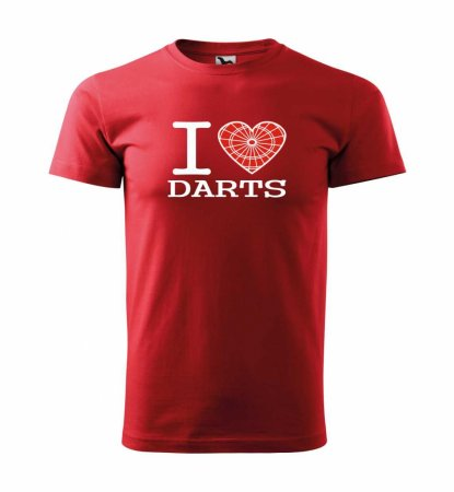 Malfini Triko s potiskem - I Love Darts - red - L
