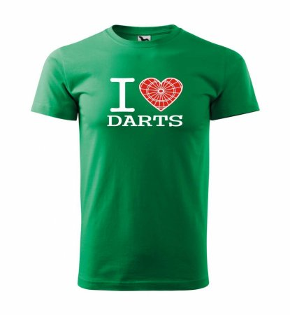 Malfini Triko s potiskem - I Love Darts - green - 4XL