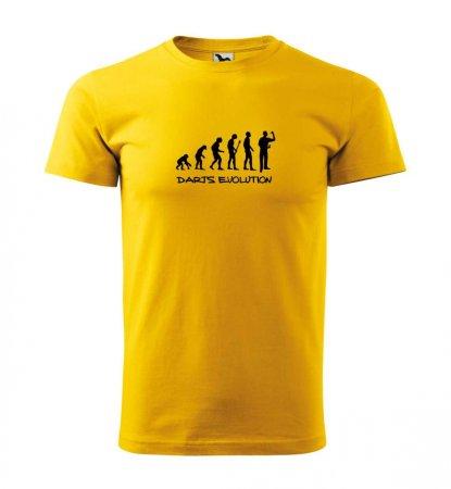 Malfini Triko s potiskem - Darts Evolution - yellow - 3XL