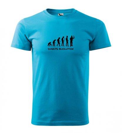 Malfini Triko s potiskem - Darts Evolution - turquoise - L