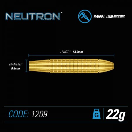 Winmau Šipky Steel Neutron - Style 2 - 22g