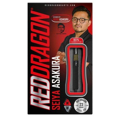 Red Dragon Šipky Steel Seiya Asakura - Black - 23g
