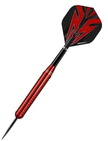 Designa Šipky Steel Mako - Shark - Red - 22g