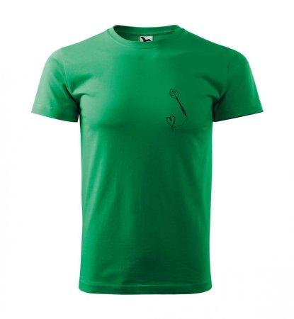Malfini Triko s potiskem - Srdíčko - green - XS