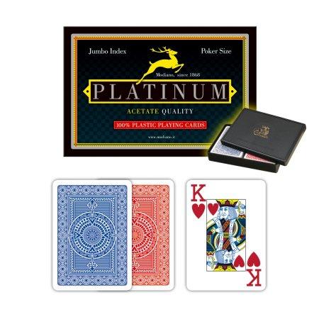 Modiano Poker Acetate Platinum - 2 Jumbo Index - Profi plastové karty