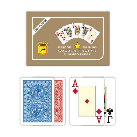 Modiano Ramino Golden Trophy - 2 Jumbo Index - Profi plastové karty