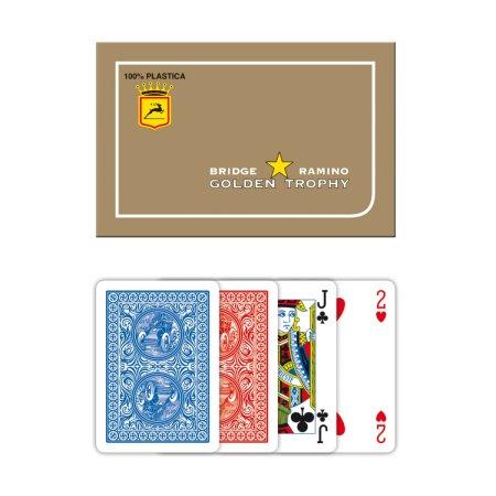 Modiano Ramino Golden Trophy - 4 Jumbo Index - Profi plastové karty