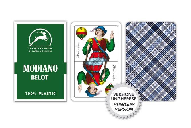 Modiano Magiare Belot - mariášové karty - Profi plastové karty