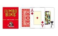 Modiano Poker Bike Trophy - 2 Jumbo Index - Profi plastové karty - červená