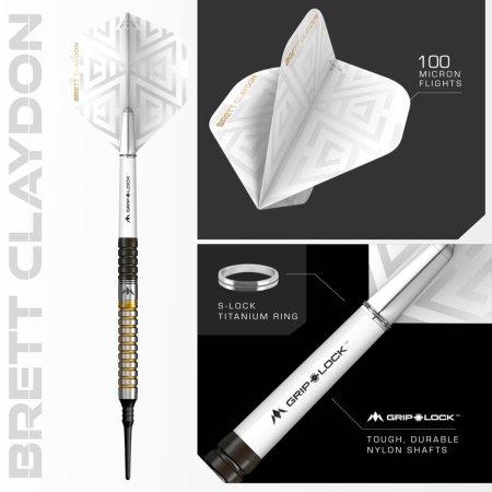 Mission Šipky Brett Claydon - Black & Gold - 21g