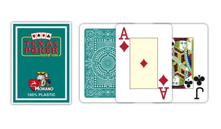 Modiano Texas Poker Size - 2 Jumbo Index - Profi plastové karty - fialová