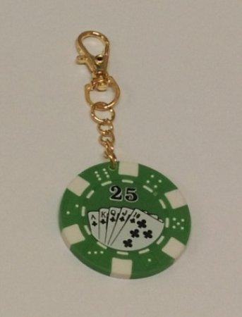 Ostatní Přívěšek na klíče s zeleným žetonem