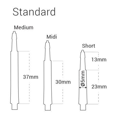 Harrows Násadky CLIC Normal - medium 37 mm - pink