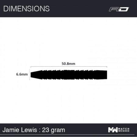 Red Dragon Šipky Steel Jamie Lewis - 23g