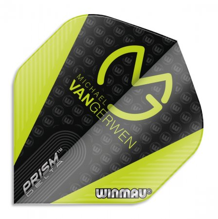 Winmau Letky Prism Delta - Michael van Gerwen - Black and Green W6915.207