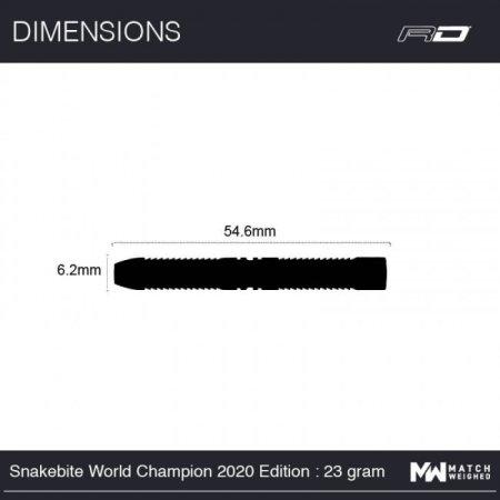 Red Dragon Šipky Steel Peter Wright Snakebite World Champion 2020 Edition - 23g