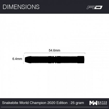 Red Dragon Šipky Steel Peter Wright Snakebite World Champion 2020 Edition - 25g