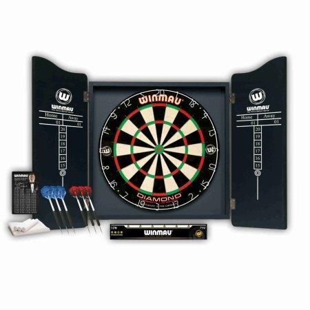Winmau Professional Darts Set - Kabinet s terčem a šipkami - Black Profi