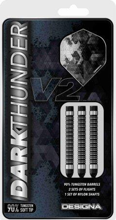 Designa Šipky Dark Thunder V2 - Black - 22g