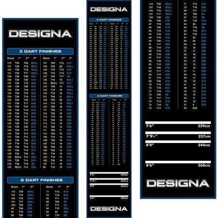 Designa Dart Mat Checkout - Koberec k terči - Blue
