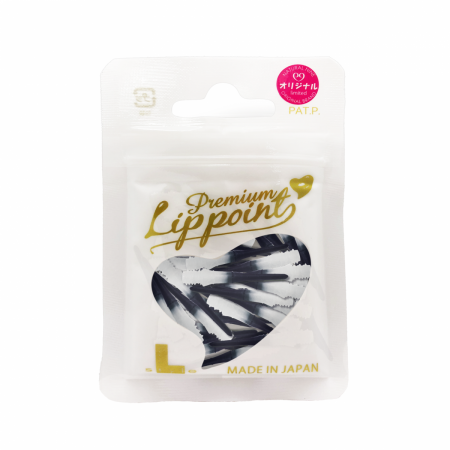 L Style Hroty Lip Point Premium Natural Nine - 30 ks - black white