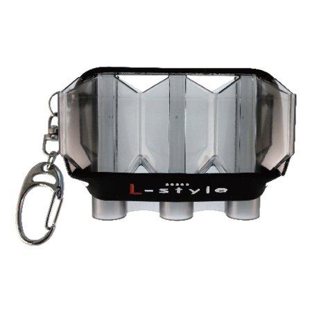 L Style Pouzdro na šipky Krystal Flight Case - clear black