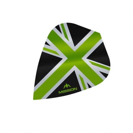 Mission Letky Alliance Union Jack - Black / Green F3091
