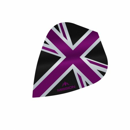 Mission Letky Alliance Union Jack - Black / Purple F3093