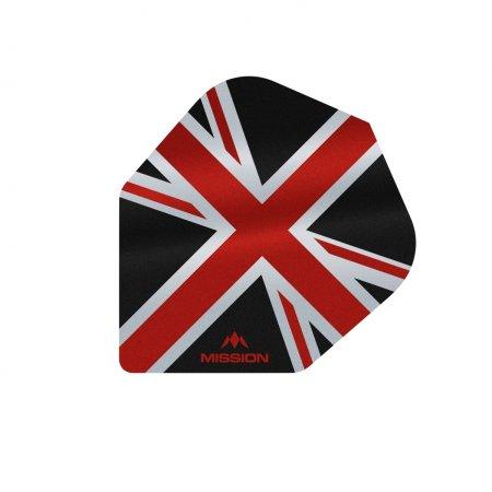 Mission Letky Alliance Union Jack No6 - Black / Red F3098