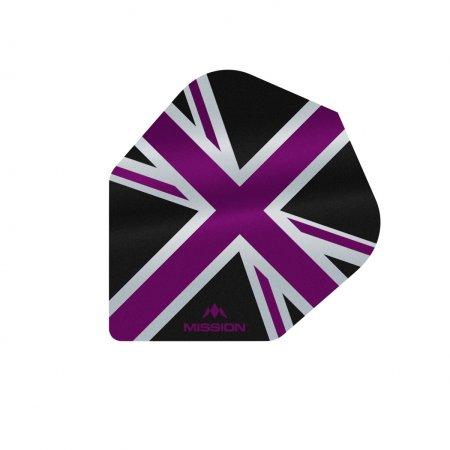 Mission Letky Alliance Union Jack No6 - Black / Purple F3101
