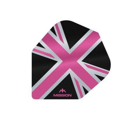 Mission Letky Alliance Union Jack No6 - Black / Pink F3102